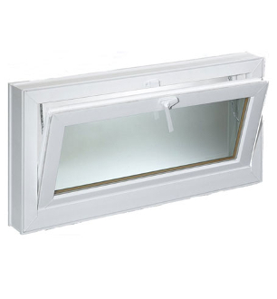 "W 72"" x H 36"" PVC Tilt /Hopper Window"