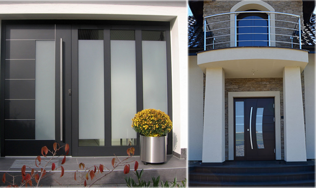 In Stock Prehung Modern Steel and Wood Front Entry Doors,Best ...