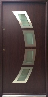 Miami Steel Modern Front Entry Door With Glass Low Maintenance