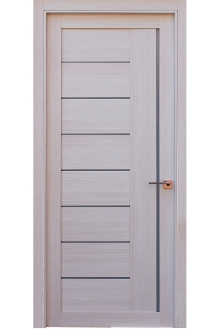 Miami Modern Interior Door White Ash Finish w/Frosted Glass  sc 1 st  Shop Liberty Windoors & Liberty Windoors- Miami Glass Contemporary Interior Door White Ash ...