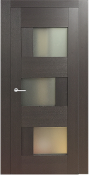 """Dominika Lux"" Glass Contemporary Interior Door Wenge Finish"