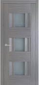 """Vetro Lux"" w/Frosted Glass Modern Interior Door Grey Ash Finish"