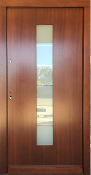 Model 086 Modern Afromosia Finish Exterior Door w/Frosted Glass