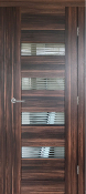 """Porto"" Modern Interior Door Jazz Walnut w/ Frosted Glass"