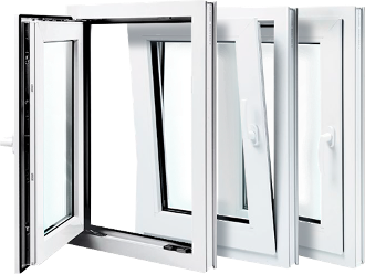 "W 32"" x H 54""   PVC Tilt and Turn Window"