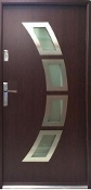 """Miami"" Steel Contemporary Front Entry Door With Glass"