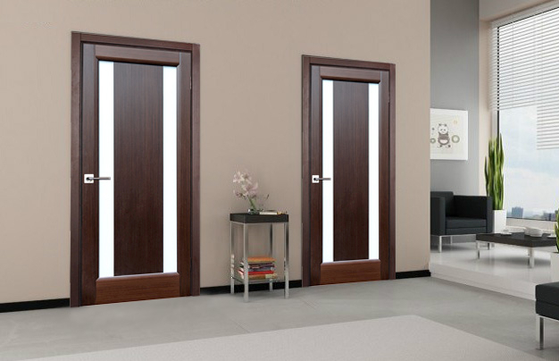 Stella Wenge Finish Contemporary Interior Door Wfrosted Glass