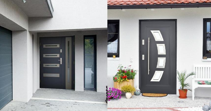 In Stock Modern Prehung Steel Front Entry Doors For Your Home