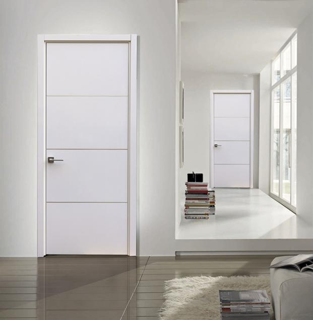 Milan contemporary interior door white gloss laminate w - Contemporary glass doors interior ...